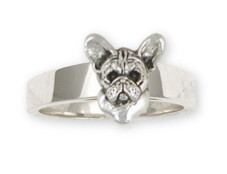 French Bulldog Ring Handmade Sterling Silver Dog Jewelry FR26-R