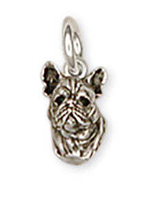 French Bulldog Charm Handmade Sterling Silver Dog Jewelry FR3-C