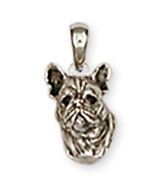 French Bulldog Pendant Handmade Sterling Silver Dog Jewelry FR3-P