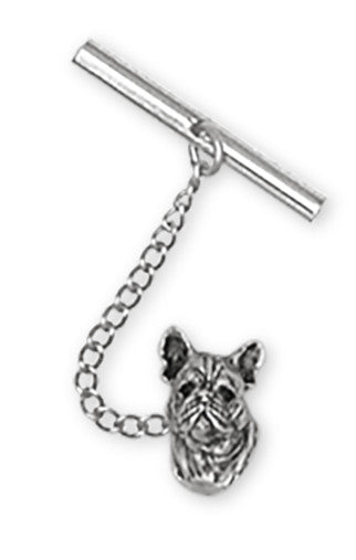 French Bulldog Tie Tack Handmade Sterling Silver Dog Jewelry FR3-TT