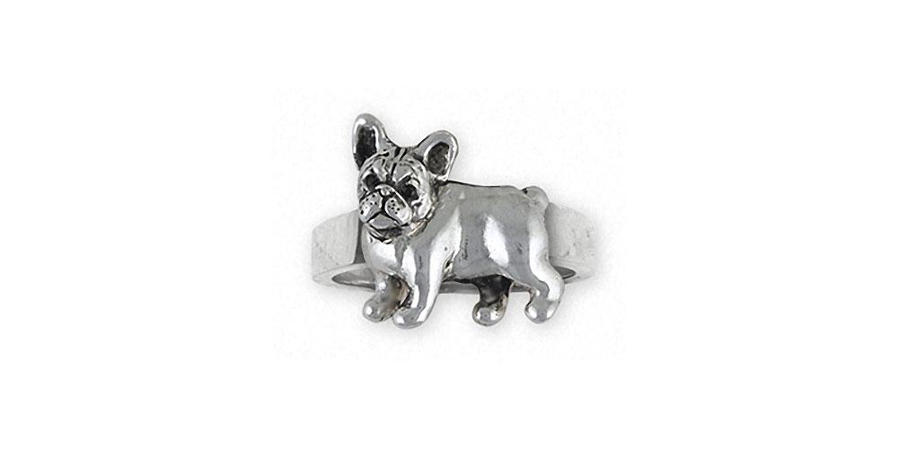 French Bulldog Charms French Bulldog Ring Sterling Silver Frenchie Jewelry French Bulldog jewelry