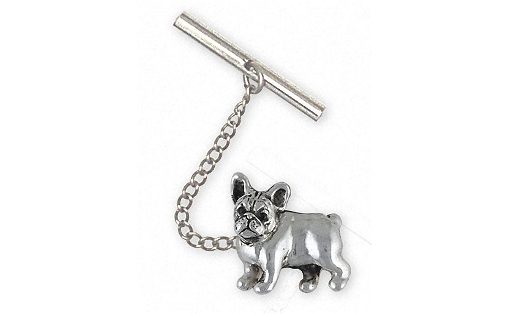 French Bulldog Charms French Bulldog Tie Tack Sterling Silver Frenchie Jewelry French Bulldog jewelry