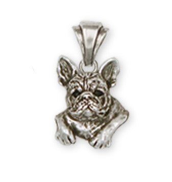 French Bulldog Pendant Handmade Sterling Silver Dog Jewelry FR4-P