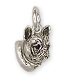 French Bulldog Charm Handmade Sterling Silver Dog Jewelry FR5H-C