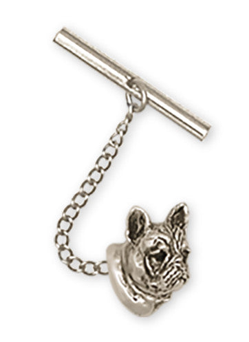 French Bulldog Tie Tack Handmade Sterling Silver Dog Jewelry FR5H-TT