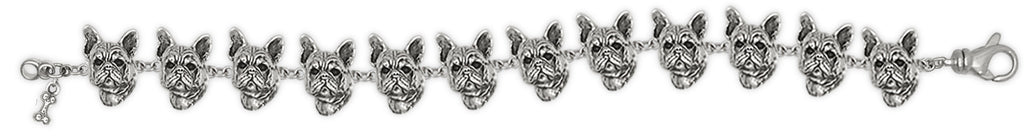 French Bulldog Bracelet Handmade Sterling Silver Dog Jewelry FR6-BR