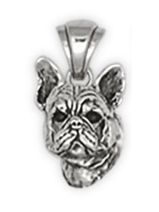 French Bulldog Pendant Handmade Sterling Silver Dog Jewelry FR6-P