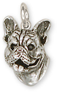 French Bulldog Charm Handmade Sterling Silver Dog Jewelry FR7-C