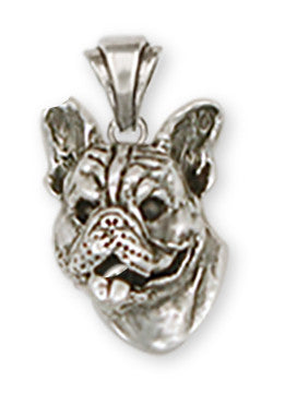 French Bulldog Pendant Handmade Sterling Silver Dog Jewelry FR7-P