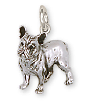 French Bulldog Charm Handmade Sterling Silver Dog Jewelry FR9-C