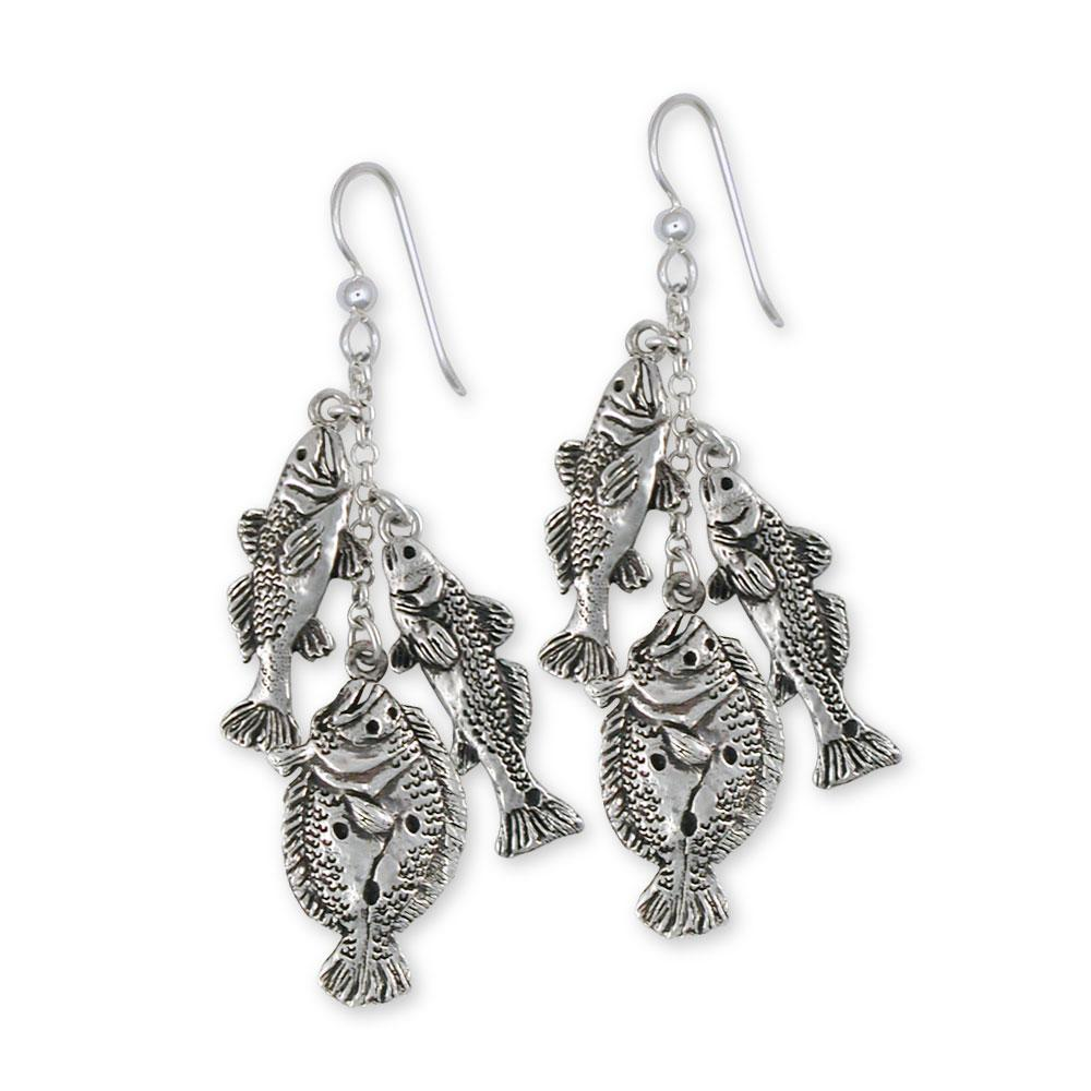 Grand Slam Fish Charms Grand Slam Fish Earrings Sterling Silver Full Stringer Jewelry Grand Slam Fish jewelry