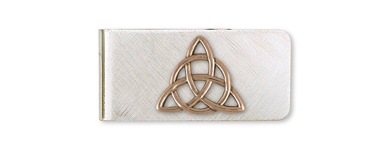 Father And Son Celtic Knot Money Clip Yellow Bronze Esquivel And