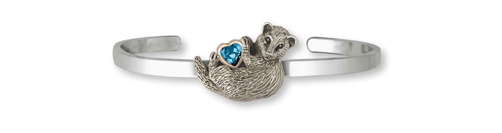 Ferret Charms Ferret Bracelet Silver And 14k Gold Ferret Jewelry Ferret jewelry