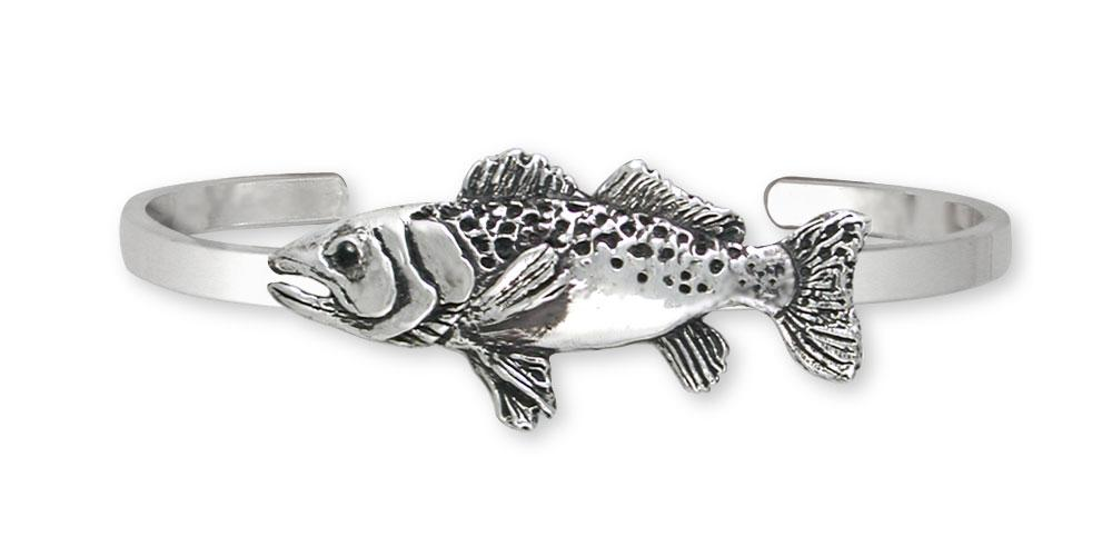 Trout Charms Trout Bracelet Sterling Silver Fish Jewelry Trout jewelry