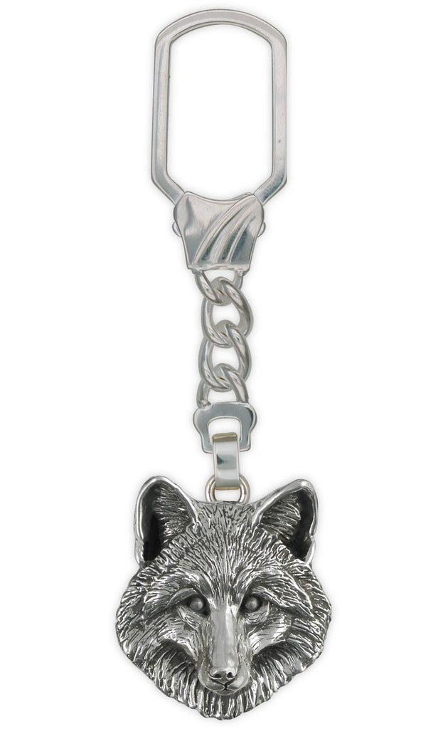 Fox Charms Fox Key Ring Sterling Silver Fox Jewelry Fox jewelry