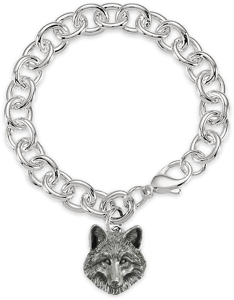 Fox Charms Fox Bracelet Sterling Silver Fox Jewelry Fox jewelry