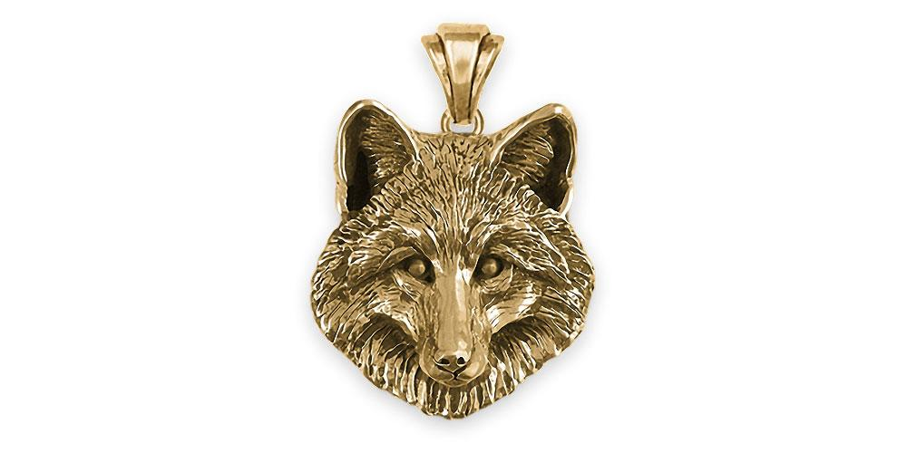 Fox Charms Fox Pendant 14k Gold Fox Jewelry Fox jewelry