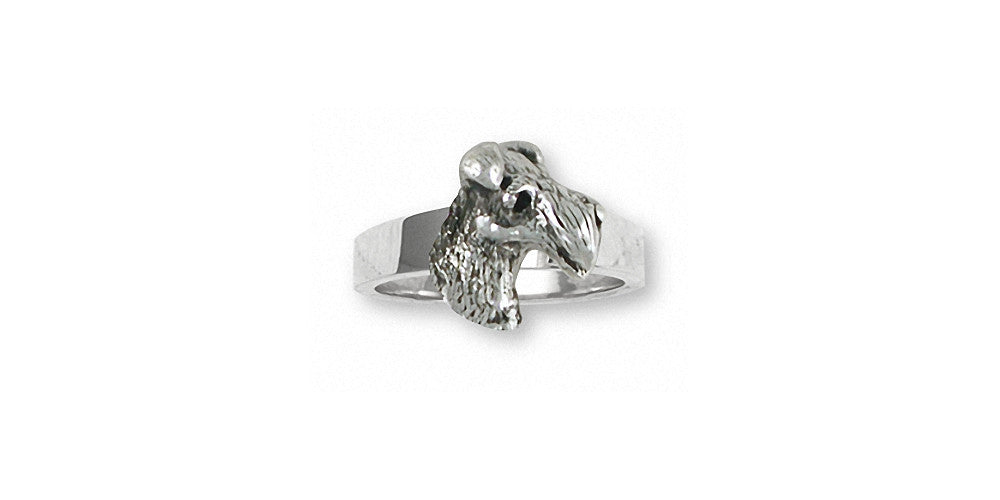 Fox Terrier Charms Fox Terrier Ring Sterling Silver Dog Jewelry Fox Terrier jewelry