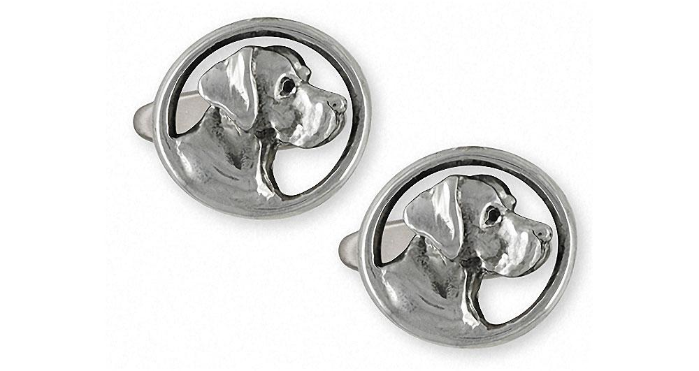 Great Dane Charms Great Dane Cufflinks Sterling Silver Dog Jewelry Great Dane jewelry