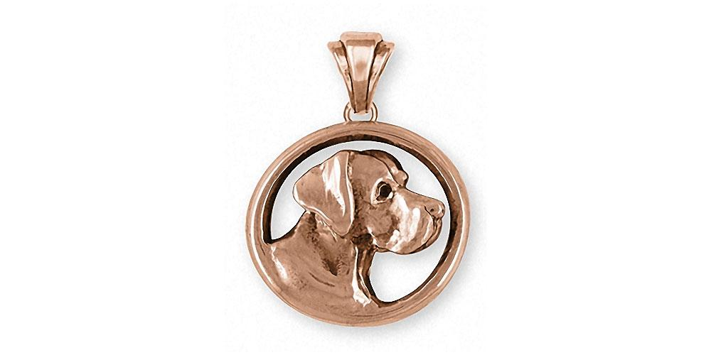 Great Dane Charms Great Dane Pendant 14k Rose Gold Dog Jewelry Great Dane jewelry