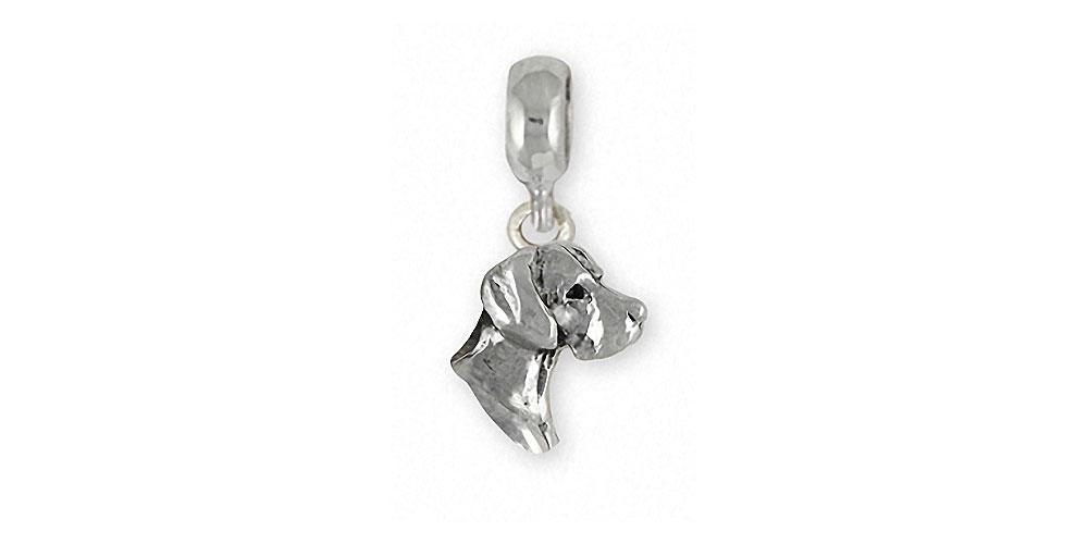 Great Dane Charms Great Dane Charm Slide Sterling Silver Dog Jewelry Great Dane jewelry