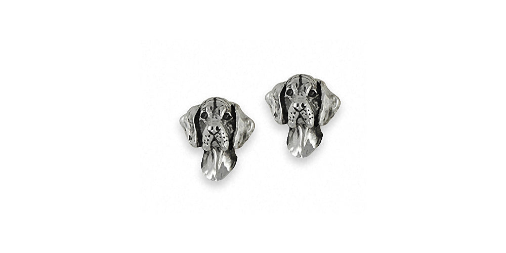 Great Dane Earrings Jewelry Sterling Silver Handmade Dog Earrings GD14B-E