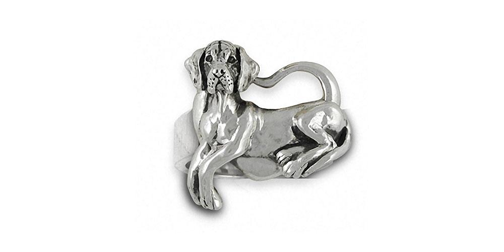 Great Dane Charms Great Dane Ring Sterling Silver Dog Jewelry Great Dane jewelry