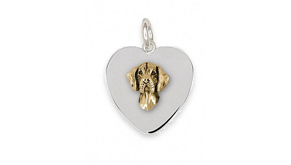 Great Dane Charms Great Dane Charm Silver And 14k Gold Dog Jewelry Great Dane jewelry