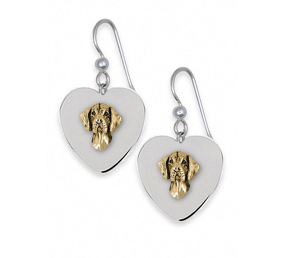 Great Dane Charms Great Dane Earrings Silver And 14k Gold Dog Jewelry Great Dane jewelry