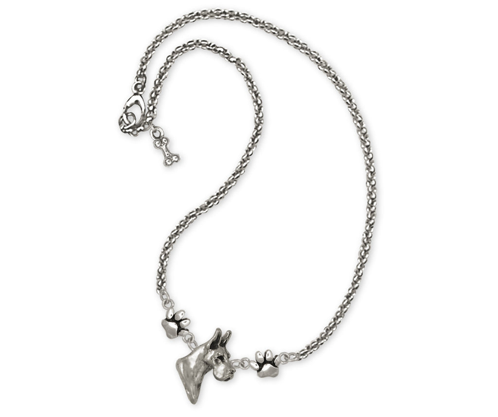 Great Dane Charms Great Dane Necklace Sterling Silver Dog Jewelry Great Dane jewelry