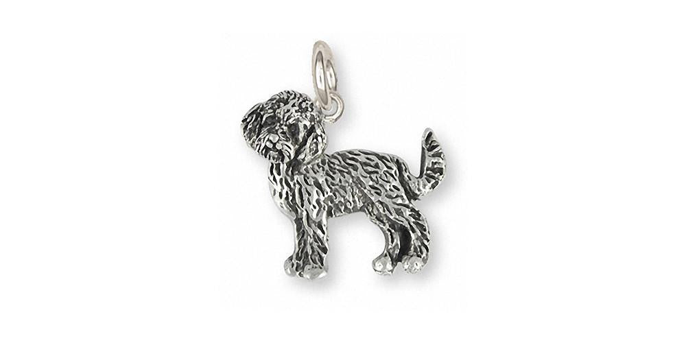 Goldendoodle Charms Goldendoodle Charm Sterling Silver Dog Jewelry Goldendoodle jewelry