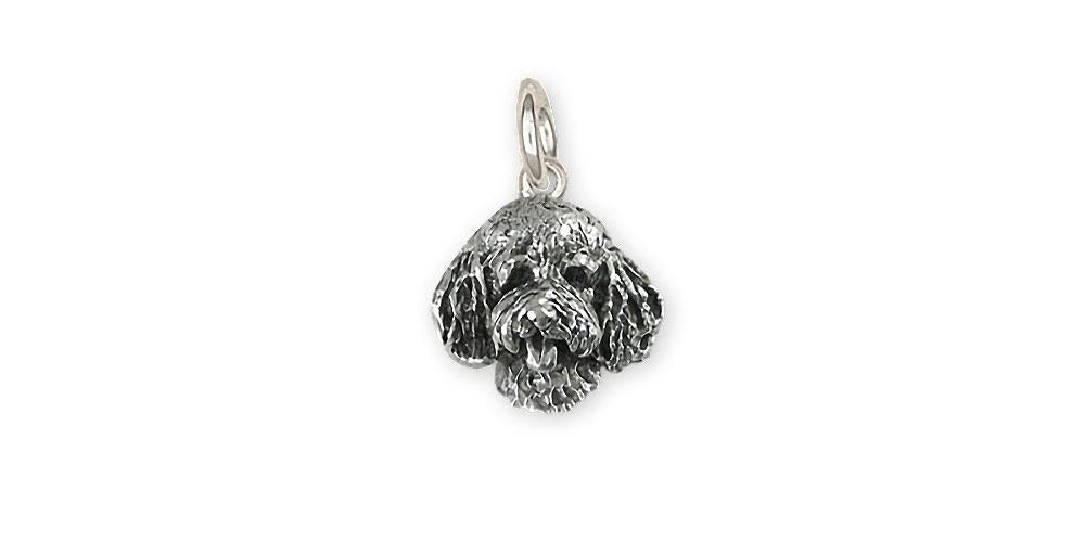 Goldendoodle Charms Goldendoodle Charm Sterling Silver Goldendoodle Jewelry Goldendoodle jewelry