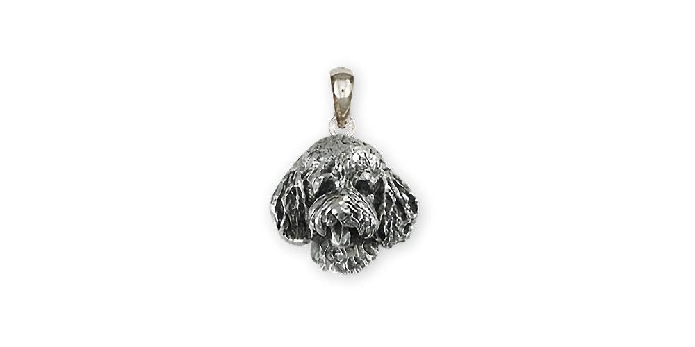 Goldendoodle Charms Goldendoodle Pendant Sterling Silver Goldendoodle Jewelry Goldendoodle jewelry