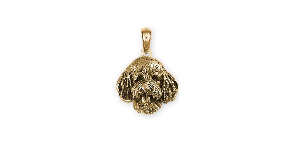 Goldendoodle Charms Goldendoodle Pendant 14k Gold Goldendoodle Jewelry Goldendoodle jewelry