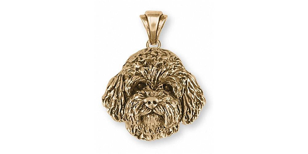 Goldendoodle Charms Goldendoodle Pendant 14k Gold Dog Jewelry Goldendoodle jewelry