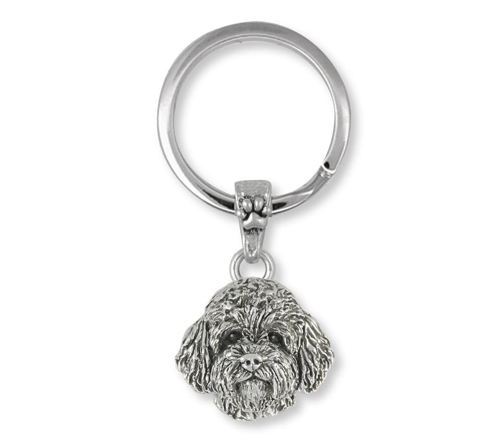Goldendoodle Charms Goldendoodle Key Ring Sterling Silver Dog Jewelry Goldendoodle jewelry