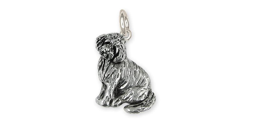 Goldendoode Charms Goldendoode Charm Sterling Silver Goldendoodle Jewelry Goldendoode jewelry