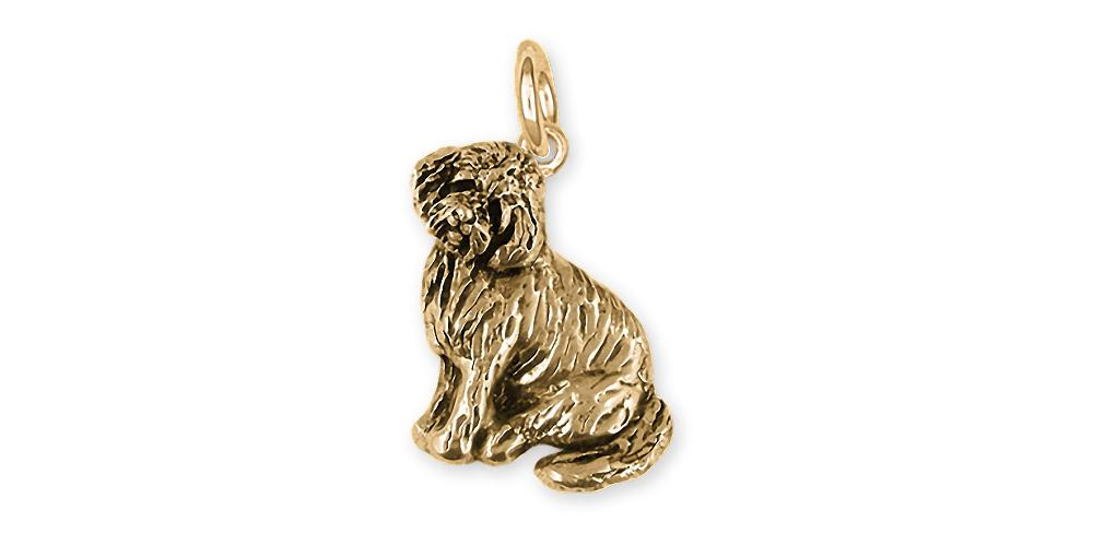 Goldendoode Charms Goldendoode Charm 14k Gold Goldendoodle Jewelry Goldendoode jewelry