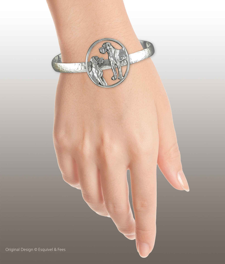 Great Dane Jewelry Sterling Silver Handmade Great Dane Bracelet  GDN22-CB