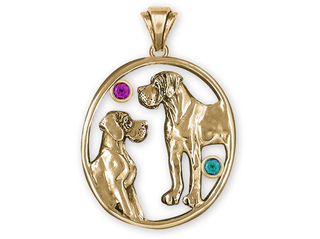 Great Dane Charms Great Dane Personalized Pendant 14k Gold Great Dane Jewelry Great Dane jewelry