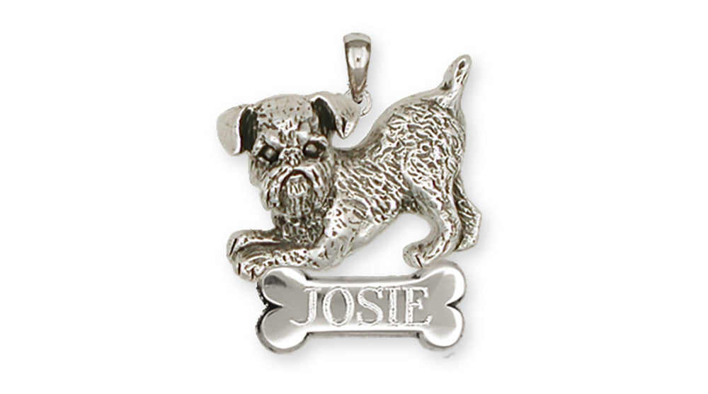 Brussels Griffon Charms Brussels Griffon Personalized Pendant Handmade Sterling Silver Dog Jewelry Brussels Griffon jewelry