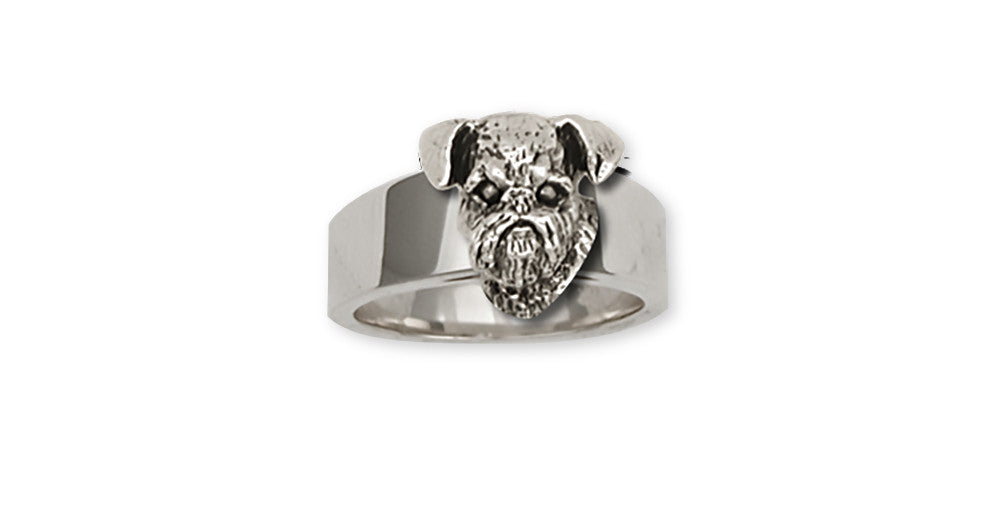 Brussels Griffon Charms Brussels Griffon Ring Handmade Sterling Silver Dog Jewelry Brussels Griffon jewelry