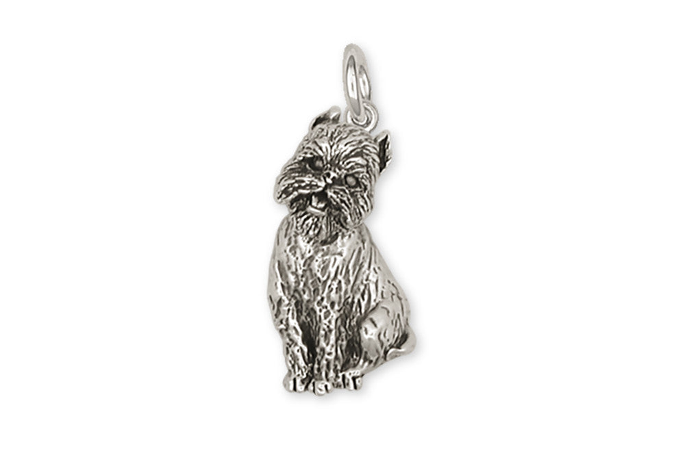 Brussels Griffon Charms Brussels Griffon Charm Handmade Sterling Silver Dog Jewelry Brussels Griffon jewelry