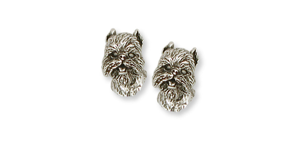 Brussels Griffon Charms Brussels Griffon Earrings Handmade Sterling Silver Dog Jewelry Brussels Griffon jewelry