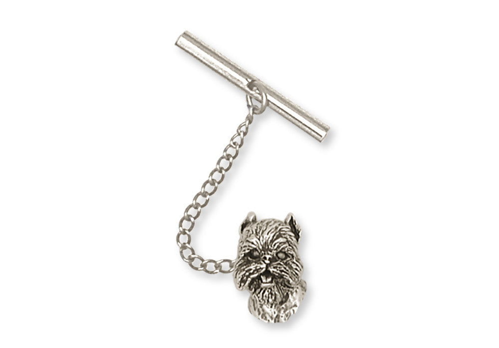 Brussels Griffon Charms Brussels Griffon Tie Tack Handmade Sterling Silver Dog Jewelry Brussels Griffon jewelry