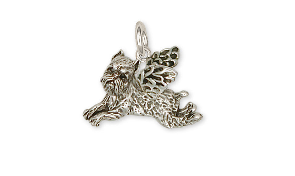 Brussels Griffon Angel Charms Brussels Griffon Angel Charm Handmade Sterling Silver Dog Jewelry Brussels Griffon Angel jewelry