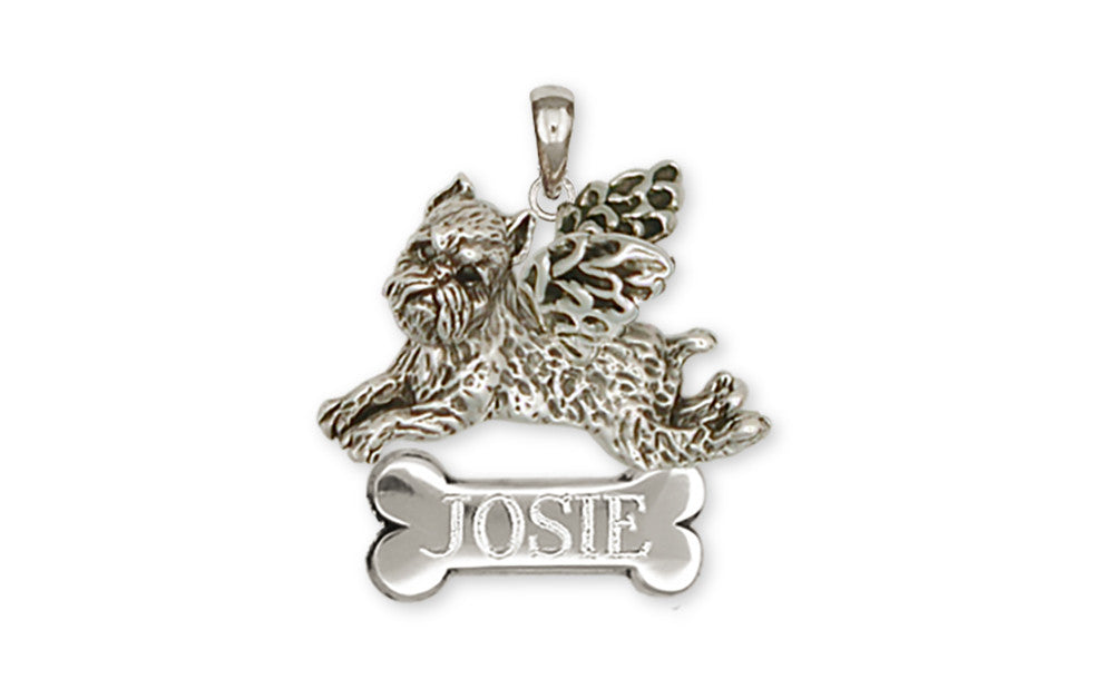 Brussels Griffon Angel Charms Brussels Griffon Angel Personalized Pendant Handmade Sterling Silver Dog Jewelry Brussels Griffon Angel jewelry