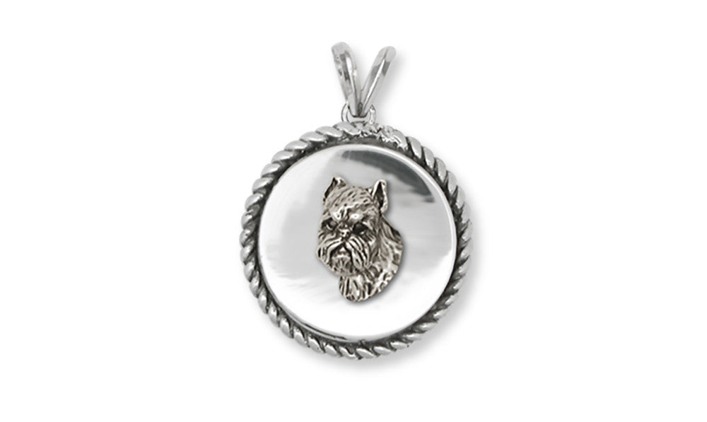 Brussels Griffon Charms Brussels Griffon Pendant Handmade Sterling Silver Dog Jewelry Brussels Griffon jewelry