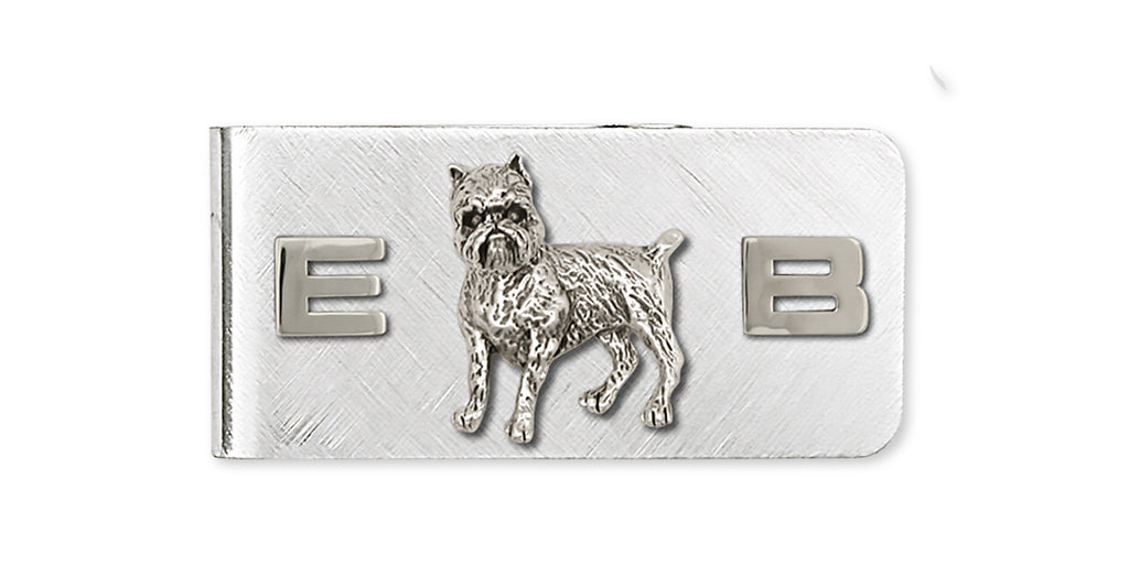 Brussels Griffon Charms Brussels Griffon Money Clip Handmade Sterling Silver Dog Jewelry Brussels Griffon jewelry