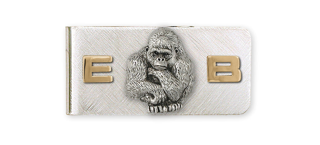Gorilla Charms Gorilla Money Clip Silver And 14k Gold Gorilla Jewelry Gorilla jewelry